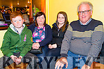 Pictured on Firday night in the Ramble Inn bar, Abbeyfeale on Friday night for the First night of the 7th Annual Garry McMahon singing weekend was L-R: Liam,Eileen, Eileen and Mike Broderick, Abbeyfeale.