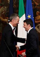 20150226 ROMA-ESTERI: RENZI INCONTRA IL SEGRETARIO GENERALE DELLA NATO STOLTENBERG