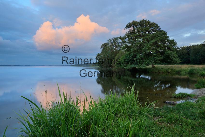 Denmark, Jutland, near Silkeborg: Dusk over Mossø lake | Daenemark, Juetland, bei Silkeborg: Abendstimmung am Julsø-See