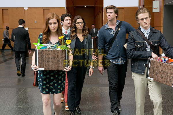Haley Finnegan, William Peltz, Angela Sarafyan, Liam Hemsworth &amp; Lucas Till <br /> in Paranoia (2013) <br /> *Filmstill - Editorial Use Only*<br /> CAP/FB<br /> Image supplied by Capital Pictures
