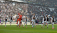2nd February 2020; Allianz Stadium, Turin, Italy; Serie A Football, Juventus versus Fiorentina; Juventus players celebrate their win at the end of the match