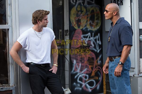 Liam Hemsworth &amp; Dwayne &quot;The Rock&quot; Johnson<br /> in Empire State (2013) <br /> *Filmstill - Editorial Use Only*<br /> CAP/FB<br /> Image supplied by Capital Pictures