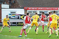 Fleetwood Town&rsquo;s Ben Davies scores his sides first goal  <br /> <br /> Photographer Richard Martin-Roberts/CameraSport<br /> <br /> The EFL Sky Bet League One - Fleetwood Town v Millwall - Monday 17th April 2017 - Highbury Stadium - Fleetwood<br /> <br /> World Copyright &copy; 2017 CameraSport. All rights reserved. 43 Linden Ave. Countesthorpe. Leicester. England. LE8 5PG - Tel: +44 (0) 116 277 4147 - admin@camerasport.com - www.camerasport.com
