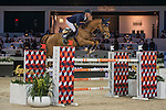 Daniel Deusser of Germany riding Happiness van T Paradijs competes during the AsiaWorld-Expo Trophy, part of the Longines Masters of Hong Kong on 11 February 2017 at the Asia World Expo in Hong Kong, China. Photo by Marcio Rodrigo Machado / Power Sport Images