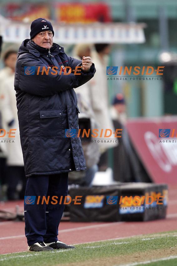 Roma 6/2/2005 Campionato Italiano Serie A  <br /> Roma Bologna 1-1 <br /> Bologna trainer Carlo Mazzone<br /> Foto Andrea Staccioli Insidefoto