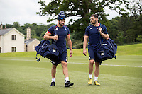 Guy Mercer and Jeff Williams of Bath Rugby look on during a Bath Rugby photoshoot on June 21, 2016 at Farleigh House in Bath, England. Photo by: Rogan Thomson for Onside Images