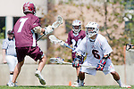 Los Angeles, CA 03/20/10 - Alec Paul (LMU # 7) and Jordan Goldstein (Arizona # 6) in action during the Arizona-Loyola Marymount University MCLA game at Leavey Field (LMU).  LMU defeated Arizona 13-6.