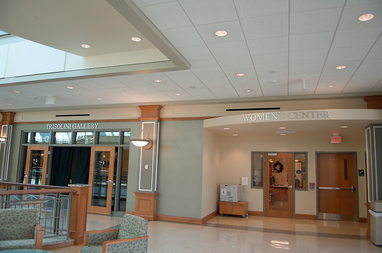 18256Women's Center Signage & Front inside Baker Center