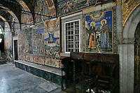 Holy Monastery of Great Lavra,Megiste Lavra,dedicated to Saint Athanasios Athonite,Katholikon, Former Annunciation Cathedral, now St. Athanasius Cathedral,wall-paintings,frescos,Athos Peninsula,Mount Athos,Chalkidiki,Greece
