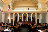 State House, State Capitol, Providence, Rhode Island, RI, The Senate Chamber inside of The Rhode Island State House in the Capital City of Providence.