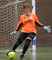 20190915– HALLE , BELGIUM : FP Halle-Gooik Girls B goal keeper Ulrike Duyck is pictured during the Belgian Women's Futsal D1 match between FP Halle-Gooik A and FP Halle-Gooik B on Sunday 15th 2019 at the De Bres Sport Complex in Halle, Belgium. PHOTO SPORTPIX.BE | Sevil Oktem