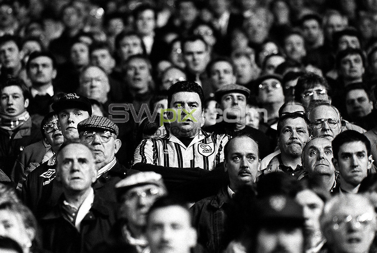 Pix:Michael Steele/SWpix...Soccer. Derby County F.C...COPYRIGHT PICTURE>>SIMON WILKINSON..A Derby County fan watches his team.