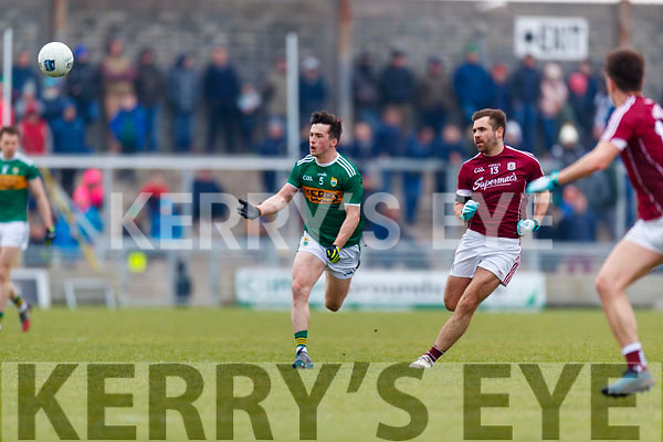 Paul Murphy Kerry in action against Patrick Sweeney Galway in the Allianz Football League Division 1 Round 4 match between Kerry and Galway at Austin Stack Park, Tralee, Co. Kerry.