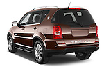 Car pictures of rear three quarter view of 2015 Ssangyong Rexton W Sapphire 5 Door Suv Angular Rear