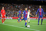 UEFA Champions League 2017/2018.<br /> Quarter-finals 1st leg.<br /> FC Barcelona vs AS Roma: 4-1.<br /> Jordi Alba.