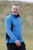 Alan McInally walking down the 18th fairway during the Hero Pro-am at the Betfred British Masters, Hillside Golf Club, Lancashire, England. 08/05/2019.<br /> Picture David Kissman / Golffile.ie<br /> <br /> All photo usage must carry mandatory copyright credit (© Golffile | David Kissman)