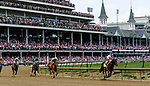 LOUISVILLE, KY - MAY 04: Backyard Heaven #4, ridden by Irad Ortiz, Jr, wins the Alysheba during an undercard race on Kentucky Oaks Day at Churchill Downs on May 4, 2018 in Louisville, Kentucky. (Photo by Mary Meeks/Eclipse Sportswire/Getty Images)