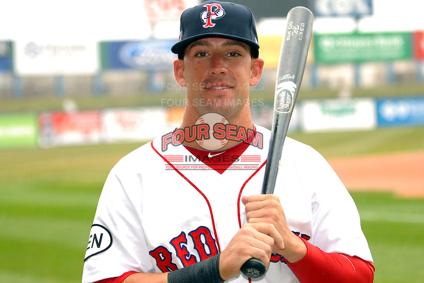 Ryan Kalish, outfielder for the Pawtucket Red Sox, poses for a photo during the teams media day on April 5, 2011 at McCoy Stadium in Pawtucket, Rhode Island.  Photo By Ken Babbitt/Four Seam Images