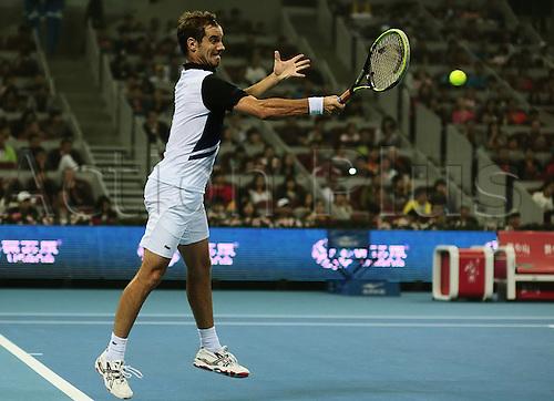 Oct 05, 2013; Beijing, CHINA; Novak Djokovic of Serbia defeats Richard Gasquet of France 2:0 (6-4, 6-2) during a men's semifinal match at the Tennis China Open.