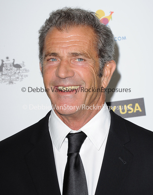 Mel Gibson attends The G'Day USA Black Tie Gala held at  JW Marriot at LA Live in Los Angeles, California on January 11,2014                                                                               © 2014 Hollywood Press Agency