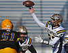 Jason Seiter #23 of Bethpage throws a pass during the Nassau County Conference III varsity football semifinals against Lawrence at Hofstra University on Saturday, Nov. 11, 2017.