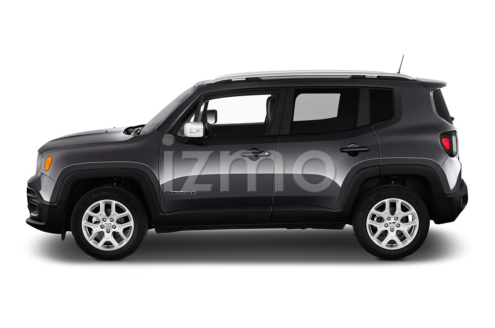 Car driver side profile view of a 2018 Jeep Renegade Limited 5 Door SUV