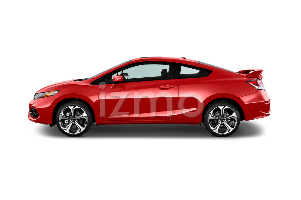 Car Driver side profile view of a 2015 Honda Civic Si Coupe SI 2 Door  Side View