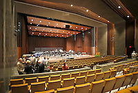 NWA Democrat-Gazette/DAVID GOTTSCHALK  The performance area Friday, September 18, 2015 inside the new Jim and Joyce Faulkner Performing Arts Center following a ribbon cutting ceremony on the campus in Fayetteville. Jim and Joyce Faulkner made a $6 million donation to the university in 2012 specifically toward renovating and remodeling the Field House into a performing arts center.