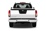 Straight rear view of 2017 Nissan Frontier S-King-Cab 4 Door Pickup Rear View  stock images
