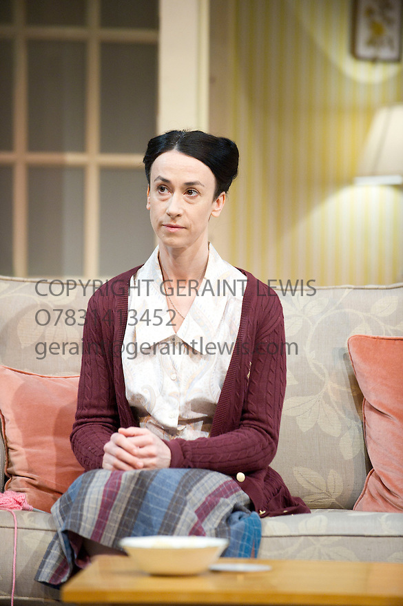 A Small Family Business by Alan Ayckbourn, directed by Adam Penfold. With Amy Marston as Harriet Ayres Opens at The Olivier Theattre at The Royal National Theatre on 8/4/14. Credit Geraint Lewis