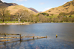 Landscape view of Lake Buttermere, Cumbria, England, UK