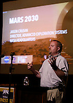 LEAD, SD - JULY 8, 2016 -- NEUTRINO DAY -- Jason Crusan, Director, Advanced Exploration Systems Division at NASA, speaks at the Historic Homestake Opera House in Lead, S.D. Friday evening.  Crusan spoke about NASA and the Mars 2030 Experience as a part of the Neutrino Day Science Festival presented by the Sanford Lab.  (Photo by Richard Carlson/dakotapress.org)