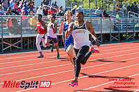 Lafayette senior Brad Alexander ran to victory in the 100-11.01 and 200-21.89 meter dashes at the 2016 MSHSAA Class 5 District 2 Track and Field Meet at Ladue High School, St. Louis, Saturday, May 14.