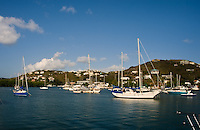 Sailboats in Benner Bay, Saint Thomas, USVI, on Feb. 8, 2012