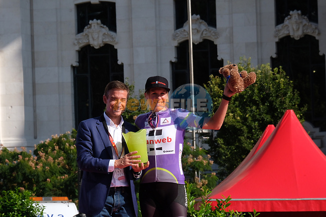 Ellen van Dijk (NED) Team Sunweb wins the overall general classification at the end of Stage 2 of the Madrid Challenge by La Vuelta 2018, running 98.6km around the streets of Madrid, Spain. 16th September 2018.                   <br /> Picture: Unipublic/Vicent Bosch | Cyclefile<br /> <br /> <br /> All photos usage must carry mandatory copyright credit (© Cyclefile | Unipublic/Vicent Bosch)