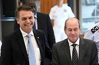 BRASÍLIA, DF, 22.11.2018 – AGENDA-BOLSONARO – O presidente eleito, Jair Bolsonaro e o ministro da Defesa Fernando Azevedo e Silva durante visita ao Ministério da Marinha na manhã desta quinta-feira, 22.(Foto: Ricardo Botelho/Brazil Photo Press)