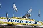 Fried Dough sign on carnival food vendor.