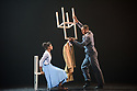"""Ballet Black presents a double bill of """"The Suit"""", choreographed by Cathy Marston, and """"A Dream Within A Midsummer Night's Dream"""", choreographed by Arthur Pita, in the Barbican theatre. Shown here is: """"The Suit"""". Picture shows: Cira Robinson (Matilda), Jose Alves (Philemon)."""