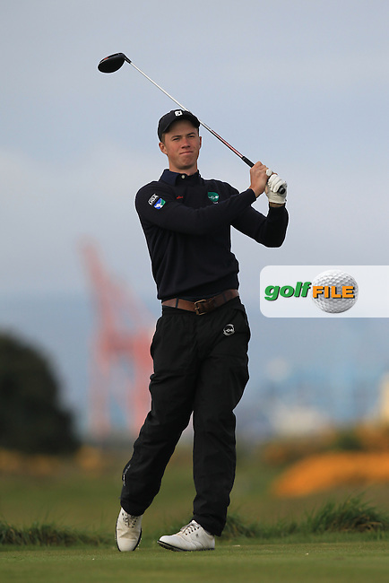 Tim Bombosch (GER) on the 3rd tee during Round 1 of the Flogas Irish Amateur Open Championship at Royal Dublin on Thursday 5th May 2016.<br /> Picture:  Thos Caffrey / www.golffile.ie