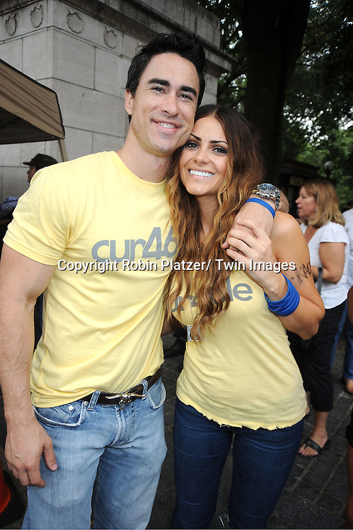 Jeremy and Michelle Money attends The Alex's Lemonade Stand Foundation fundraiser benefiting pediatric cancer research. Graham Bunn from Bachelor Pad along with his company 46 NYC are sponsoring Alex's stand on September 25, 2011 at Merchants Gate in Central Park.