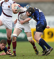 Wednesday 21st March 2012 - Matthew Clarke in action during the Ulster Schools Subsidiary Shield Final between Limavady Grammar School and Royal School Armagh at Ravenhill, Belfast.<br /> <br /> Picture credit: John Dickson / DICKSONDIGITAL