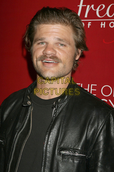 EVAN JONES .Frederick's of Hollywood Fashion Show held at the Hollywood Palladium, Hollywood, California, USA..October 24th, 2007.headshot portrait black leather mustache moustache facial hair .CAP/ADM/RE.©Russ Elliot/AdMedia/Capital Pictures.
