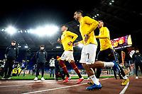 Chris Smalling of AS Roma , Henrikh Mkhitaryan of AS Roma , Aleksandar Kolarov of AS Roma <br /> Roma 07/02/2020 Stadio Olimpico <br /> Football Serie A 2019/2020 <br /> AS Roma - Bologna FC <br /> Photo Andrea Staccioli / Insidefoto