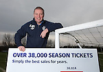 Ally McCoist today revealing that Rangers have sold over 38000 season tickets so far