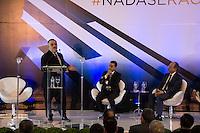 SAO PAULO, SP - 10.11.2016 - SAL&Atilde;O-AUTOM&Oacute;VEL - O governador do Estado de S&atilde;o Paulo em exerc&iacute;cio, Marcio Fran&ccedil;a participa da <br /> cerim&ocirc;nia de abertura do Sal&atilde;o Internacional do Autom&oacute;vel em S&atilde;o Paulo no expo Imigrantes na regi&atilde;o sul da cidade de S&atilde;o <br /> Paulo  nesta quinta-feira,10. Junto com o ministro outras autoridades tamb&eacute;m marcaram presen&ccedil;a, como  Paulo Hartung, <br /> governador do Estado do Espirito Santos e do Ministro da Ind&uacute;stria, Com&eacute;rcio Exterior e Servi&ccedil;os, Marcos Pereira(Foto: Fabricio Bomjardim / Brazil Photo Press)