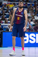 Estudiantes XXX anduring Liga Endesa match between Estudiantes and FC Barcelona Lassa at Wizink Center in Madrid, Spain. October 22, 2017. (ALTERPHOTOS/Borja B.Hojas) /NortePhoto.com