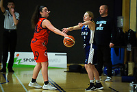 Action from the 2019 Schick AA Girls' Secondary Schools Basketball National Championships 11th place playoff between Rangitoto College and Tauranga Girls' College at the Central Energy Trust Arena in Palmerston North, New Zealand on Saturday, 5 October 2019. Photo: Dave Lintott / lintottphoto.co.nz