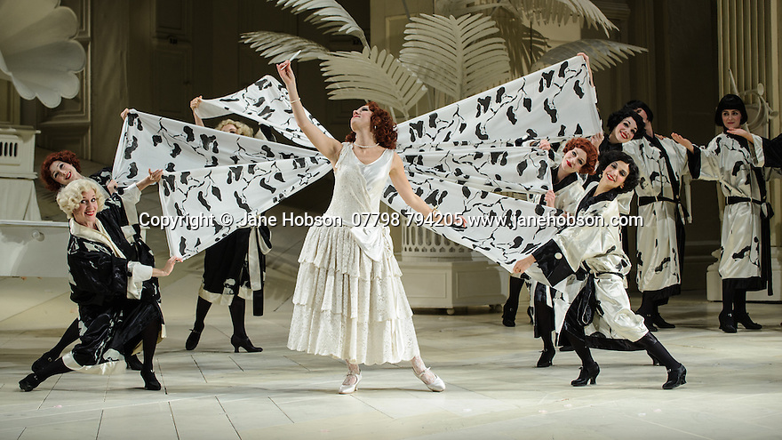 London UK. 19.11.2015. English National Opera presents THE MIKADO, by Arthur Sullivan & W. S. Gilbert, directed by Jonathan Miller, at the London Coliseum. Picture shows: Mary Bevan (Yum-Yum). Photograph © Jane Hobson.