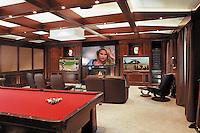 Open Space Billiard Room With Multiple TVs