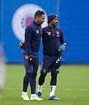 28.02.2020 Rangers training: Alfredo Morelos and Jermain Defoe